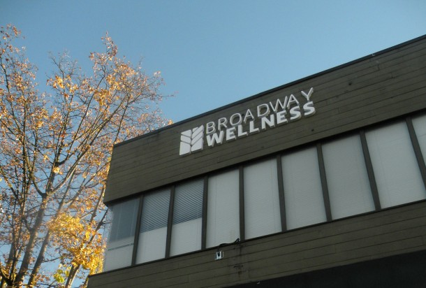 The New Broadway Wellness signage